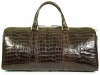 Aino - Duffel Bag in Alligator - Dark Brown