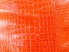 Genuine Alligator Belly Skin - Millennium Waxy Finish in Orange
