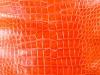 Genuine Alligator Belly Skin - Millennium Waxy Finish in Orange